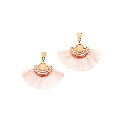 Bead Fringe Drop Earrings