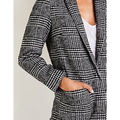 Plaid Boyfriend Blazer