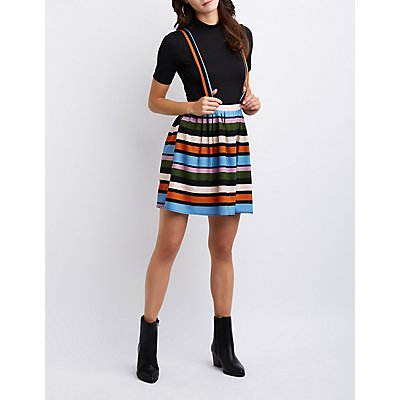 Striped Suspender Skirt