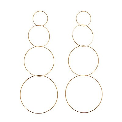 Tiered Hoop Drop Earrings