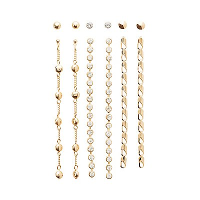 Stud & Drop Earrings - 6 Pack