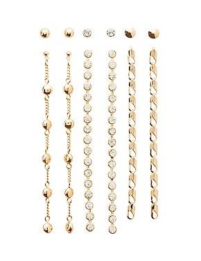 Stud & Drop Earrings - 6 Pack