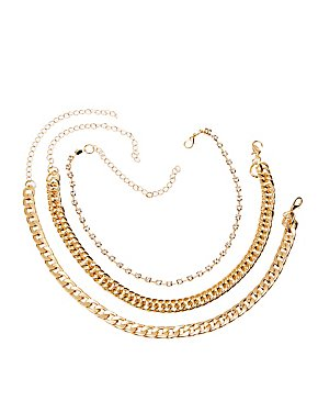 Chainlink Necklaces - 3 Pack