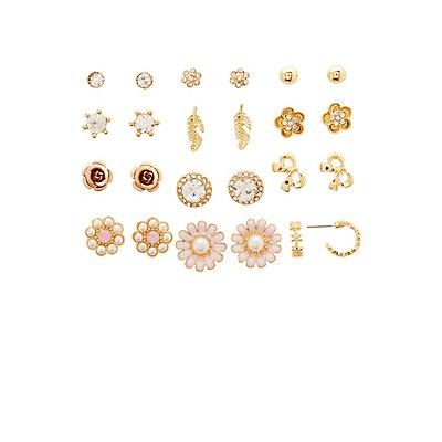 Stud & Hoop Earrings - 12 Pack