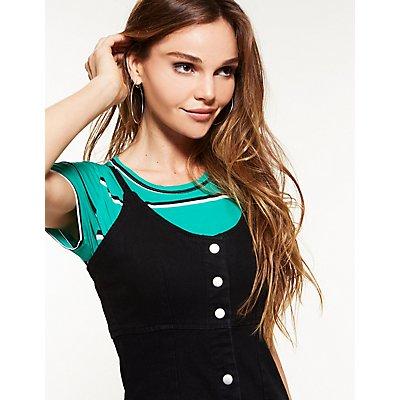 Denim Button Up Bodycon Dress