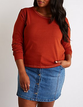 Plus Size Crew Neck Tee