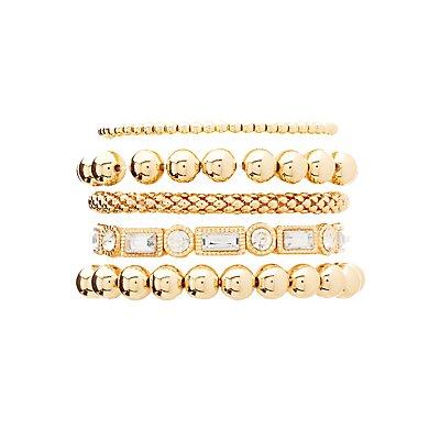Beaded & Crystal Stackable Bracelets