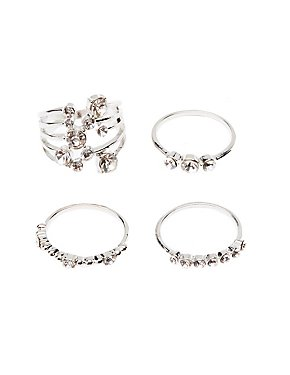 Crystal Stacking Rings - 4 Pack