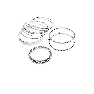 Crystal & Textured Bangles