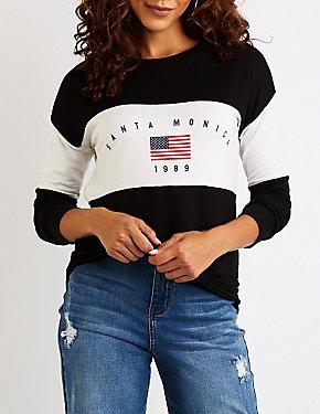 Santa Monica Graphic Pullover Sweatshirt