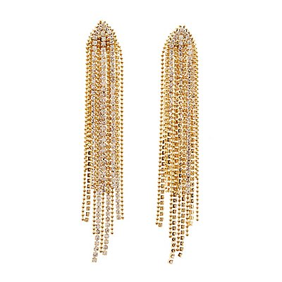 Cascading Beaded & Crystal Earrings