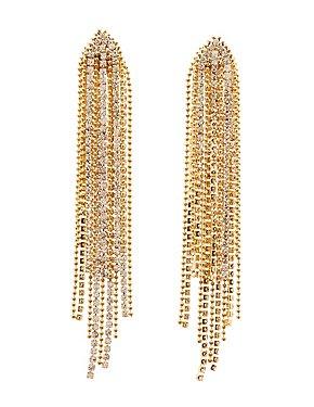 Cascading Beaded & Crystal Earrings