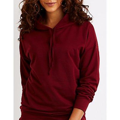 Drawstring Tunic Pullover Hoodie