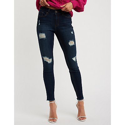 Refuge Dark Wash Destroyed Jeans