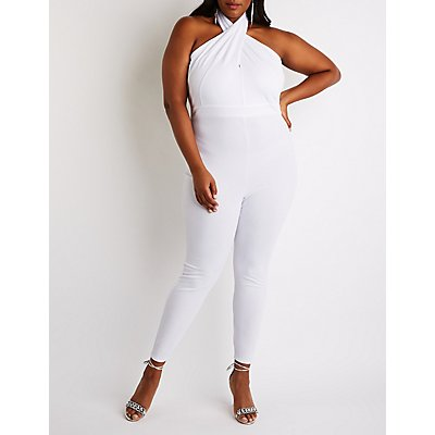 Plus Size V Neck Jumpsuit | Tuggl