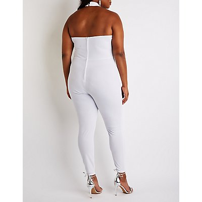 Plus Size V Neck Jumpsuit