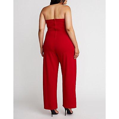 Plus Size Sleeveless Wide Leg Jumpsuit