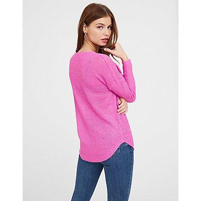 V Neck Pullover Sweater