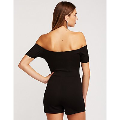 Wired Off The Shoulder Romper