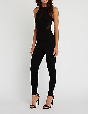 Mesh Cut Out Jumpsuit