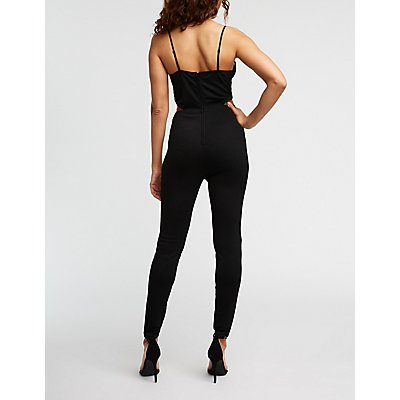 Plunging V Wire Jumpsuit