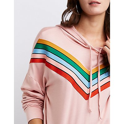 Chevron Hooded Pullover Sweater