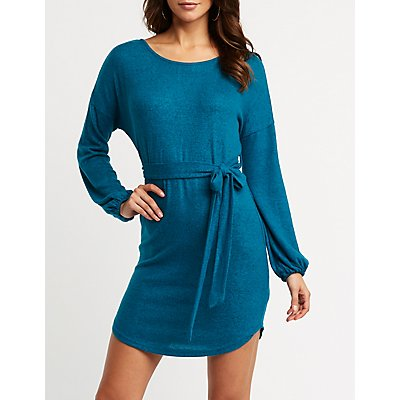 Balloon Sleeve Sweater Dress