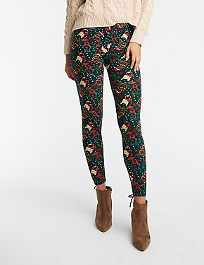 Holiday Dog Print Leggings