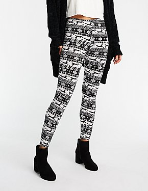 Holiday Reindeer Fairisle Leggings