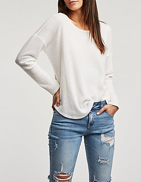Strappy Back Brushed Knit Top