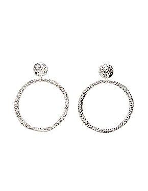 Hammered Hoop Earrings