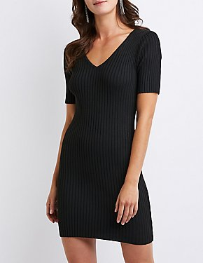 Ribbed Knit Bodycon Dress