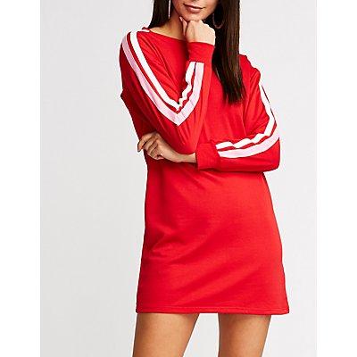 Striped Sweatshirt Dress