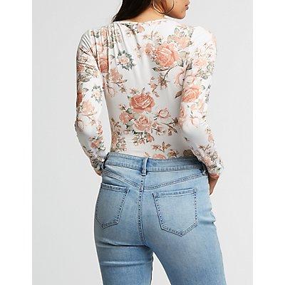 Floral Scoop Neck Bodysuit