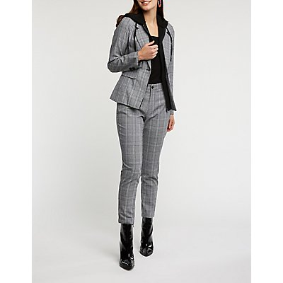 Plaid Skinny Trousers