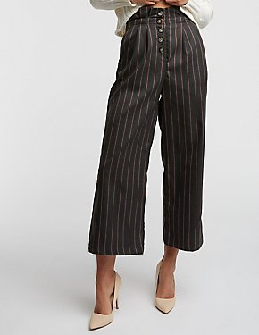 Stripe Culotte Pants