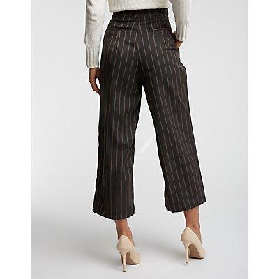 Stripe Culotte Pants
