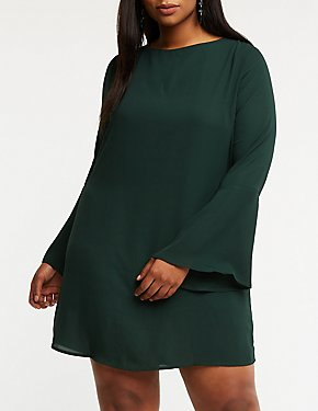 Plus Size Back Tie Shift Dress