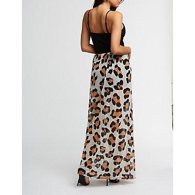 Cheetah Print Maxi Romper