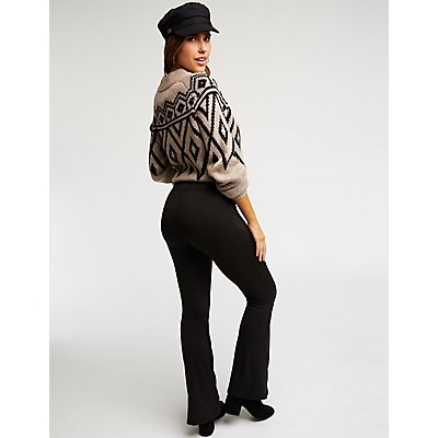 Lace Up Flared Pants