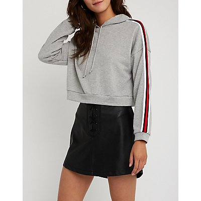 Sporty Cropped Hoodie