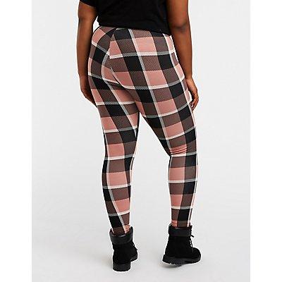 Plus Size Plaid Leggings