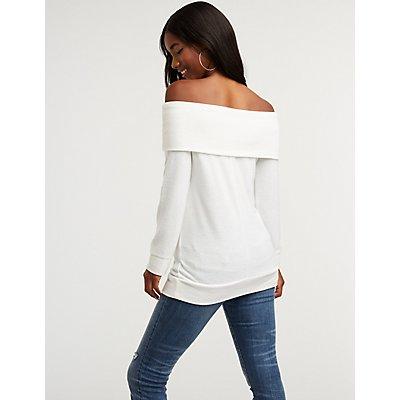Off The Shoulder Pullover Top
