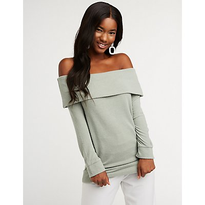 Off The Shoulder Pullover Top