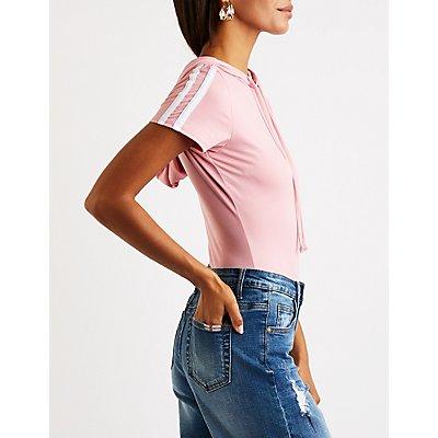 Varsity Stripe Hooded Bodysuit