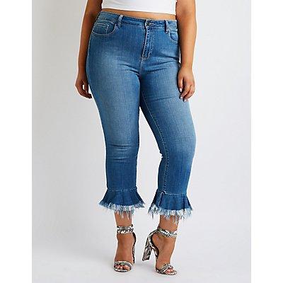 Plus Size cello Flared Hem Jeans
