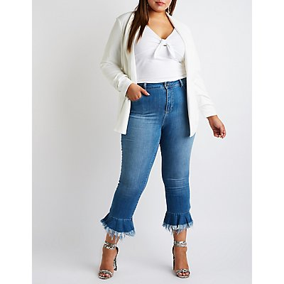 Plus Size cello Flared Hem Jeans