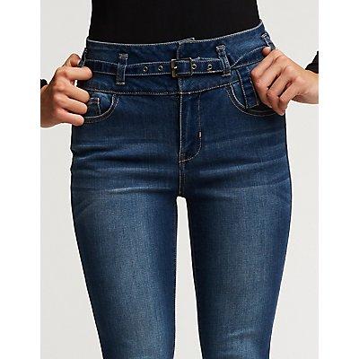 Refuge Belted Skinny Jeans
