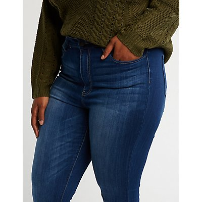 Plus Size Cello Faded Skinny Jeans