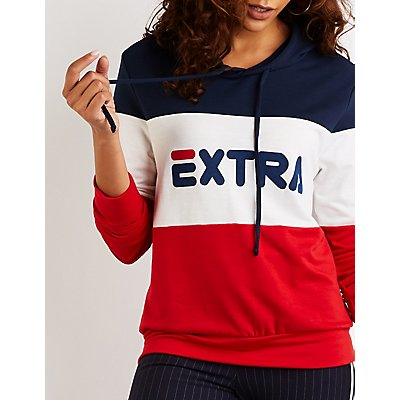 Extra Color Block Hoodie